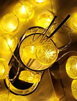 baratos -2m Cordões de Luzes 10 LEDs Branco Quente Decorativa Baterias AA alimentadas 1conjunto