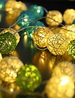 abordables -3M Guirlandes Lumineuses 20 LED Plusieurs Couleurs Décorative Piles AA alimentées 1 set