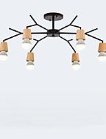 Недорогие -QINGMING® 6-Light Люстры и лампы Потолочный светильник Окрашенные отделки Дерево Металл Мини 110-120Вольт / 220-240Вольт