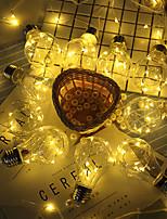 baratos -HKV 4m Cordões de Luzes 10 LEDs Branco Quente / RGB Impermeável / USB / Festa Carregamento USB 1pç