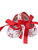 Недорогие -Девочки Обувь Хлопок Наступила зима Удобная обувь / Обувь для малышей На плокой подошве Бант для Дети Темно-красный / Белый / синий / Wit En Groen