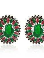 Недорогие -Жен. Классический Набор серьги - Цветы Мода Зеленый Назначение Для вечеринок Повседневные