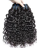 Недорогие -3 Связки Перуанские волосы Волнистые 8A Натуральные волосы Необработанные натуральные волосы Wig Accessories Подарки Косплей Костюмы 8-28 дюймовый Естественный цвет Ткет человеческих волос