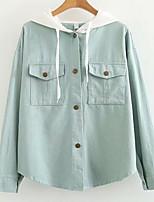 Недорогие -Жен. Куртка Уличный стиль - Контрастных цветов