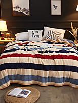baratos -Super Suave, Estampado Listrado Poliéster / Poliamida cobertores