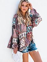 baratos -Mulheres Blusa Moda de Rua Gráfico