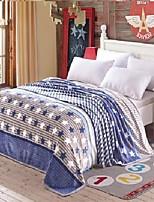 baratos -Tricotado, Gravado Listrado Flanela Tosão cobertores