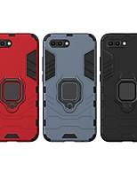 Недорогие -Кейс для Назначение Huawei Honor 10 Защита от удара / Кольца-держатели Кейс на заднюю панель Однотонный / броня Твердый ПК для Huawei Honor 10