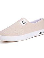 Недорогие -Муж. Комфортная обувь Полотно Осень Мокасины и Свитер Белый / Черный / Бежевый