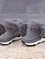Недорогие -Девочки Обувь Кожа Осень / Наступила зима Ботильоны Ботинки для Дети (1-4 лет) Черный / Серый / Розовый