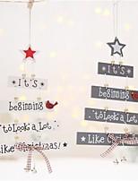 Недорогие -Праздничные украшения Новый год / Рождественский декор Рождество / Рождественские украшения Мультипликация / Для вечеринок / Декоративная Белый / Серый 1шт