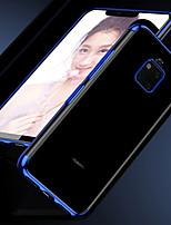 Недорогие -Кейс для Назначение Huawei Huawei Mate 20 Pro / Huawei Mate 20 Покрытие / Прозрачный Кейс на заднюю панель Однотонный Мягкий ТПУ для Mate 10 / Mate 10 pro / Mate 10 lite