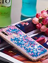 Недорогие -Кейс для Назначение Xiaomi Mi 8 SE Защита от удара / Сияние и блеск Кейс на заднюю панель Сияние и блеск / Цветы Мягкий ТПУ для Xiaomi Mi 8 SE