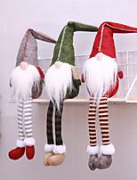 abordables -Décorations de vacances Décorations de Noël Santons Décorative Gris / Vert / Rouge foncé 1pc
