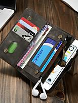 Недорогие -CaseMe Кейс для Назначение Apple iPhone 6 / iPhone 6s Кошелек / Бумажник для карт / Защита от удара Чехол Однотонный Твердый Кожа PU для iPhone 6s / iPhone 6