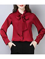 Недорогие -Жен. Рубашка Классический / Шинуазери (китайский стиль) Однотонный