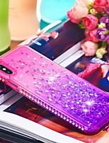 Недорогие -Кейс для Назначение Apple iPhone XR / iPhone XS Max Стразы / Движущаяся жидкость Кейс на заднюю панель Градиент цвета Мягкий ТПУ для iPhone XS / iPhone XR / iPhone XS Max