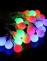 Недорогие -brelong led красочный водонепроницаемый праздник украшения свет строка белый шар 1 шт
