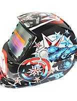 Недорогие -солнечный авто потемнение сварочный шлем 107 капитан америка