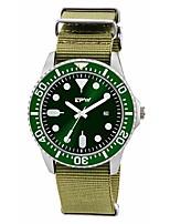 baratos -Homens Relógio Militar Japanês Quartzo 30 m Criativo Náilon Banda Analógico Vintage Casual Verde Escuro - Verde Escuro Um ano Ciclo de Vida da Bateria