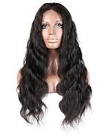 Недорогие -Не подвергавшиеся окрашиванию человеческие волосы Remy Полностью ленточные Парик Бразильские волосы Естественные кудри Парик Стрижка каскад Средняя часть Боковая часть 130% Плотность волос