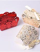 Недорогие -Цветочный узор Картон Фавор держатель с Корсет Подарочные коробки - 10 шт.