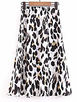 Недорогие -женский колено длиной юбки - леопард