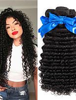 abordables -Lot de 6 Cheveux Malaisiens Ondulation profonde 8A Cheveux Naturel humain Cheveux humains Naturels Non Traités Cadeaux Costumes Cosplay Tissages de cheveux humains 8-28 pouce Couleur naturelle