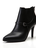 cheap -Women's Boots Stiletto Heel Boots Stiletto Heel Pointed Toe Booties Ankle Boots Classic Vintage Preppy Daily Office & Career Walking Shoes Faux Leather Solid Colored Black Burgundy