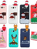 baratos -Capinha Para Samsung Galaxy J7 (2017) / J5 (2016) Estampada Capa traseira Natal Macia TPU para J7 (2017) / J7 (2016) / J5 (2017)