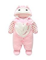 Недорогие -малыш Девочки Винтаж Однотонный Длинный рукав Хлопок / Полиэстер 1 предмет Розовый 59