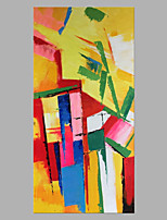 Недорогие -Hang-роспись маслом Ручная роспись - Абстракция Классика / Modern Без внутренней части рамки / Рулонный холст