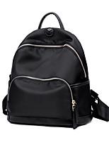 Недорогие -Жен. Мешки PU рюкзак Молнии Сплошной цвет Черный / Серый