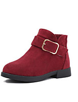 Недорогие -Девочки Обувь Замша Наступила зима Модная обувь Ботинки Пряжки для Дети Серый / Желтый / Красный