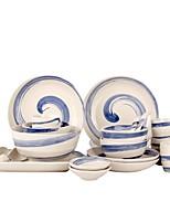 abordables -1 set 20 pièces Services de Vaisselle Plats de Service Ensemble en porcelaine Vaisselle Porcelaine Céramique Mignon Résistant à la chaleur Design nouveau