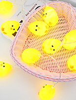 Недорогие -3M Гирлянды 20 светодиоды Желтый Декоративная Аккумуляторы AA 1 комплект