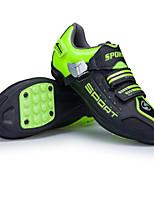 Недорогие -21Grams Детские / Взрослые Обувь для велоспорта Противозаносный, Anti-Shake, Амортизация Шоссейные велосипеды / Велосипеды для активного отдыха / Велосипедный спорт / Велоспорт Белый / Зеленый