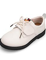 Недорогие -Мальчики / Девочки Обувь Кожа Весна & осень Удобная обувь Кеды Шнуровка для Дети Белый / Черный