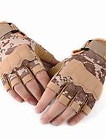 Недорогие -Half-палец Муж. Мотоцикл перчатки Кожа Износостойкий / Защитный / Non Slip