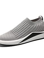 Недорогие -Муж. Комфортная обувь Сетка Осень На каждый день Мокасины и Свитер Дышащий Черный / Серый / Темно-серый
