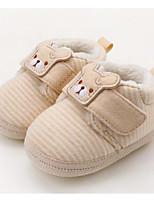 abordables -Garçon / Fille Chaussures Coton Hiver Premières Chaussures Basket Scotch Magique pour Bébé Amande / Vert clair / Bloc de Couleur