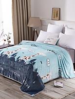 baratos -Tricotado, Flocagem Desenho Animado 100% Micro Fibra cobertores