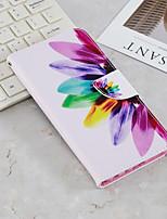 Недорогие -Кейс для Назначение SSamsung Galaxy J6 / J4 Кошелек / Бумажник для карт / со стендом Чехол Цветы Твердый Кожа PU для J6 (2018) / J6 Plus / J4 (2018)