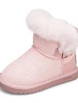 Недорогие -Девочки Обувь Синтетика Зима Зимние сапоги Ботинки Пайетки для Дети / Для подростков Черный / Розовый