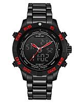 Недорогие -Муж. Спортивные часы Японский Цифровой Черный 30 m Защита от влаги Календарь Секундомер Аналого-цифровые Мода - Черный / Красный Черный / Желтый / Нержавеющая сталь / Хронометр / Фосфоресцирующий