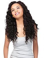Недорогие -человеческие волосы Remy U-образный Лента спереди Парик Бразильские волосы Волнистые Парик Средняя часть Боковая часть 250% Плотность волос / с детскими волосами / с детскими волосами