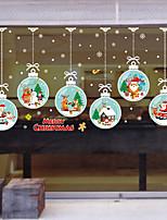 Недорогие -Оконная пленка и наклейки Украшение Современный / Рождество Цветы / Персонажи ПВХ Стикер на окна