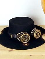 Недорогие -Косплей Доктор чумы Steampunk Костюм Все Шапки шляпа Черный Винтаж Косплей Сукно Хром
