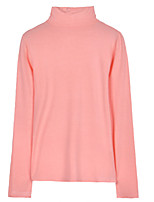 Недорогие -женская тонкая футболка - сплошная цветная водолазка