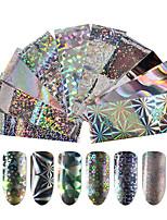 baratos -10 pcs Adesivo de folha Criativo arte de unha Manicure e pedicure Melhor qualidade Estiloso / Geométrico Diário